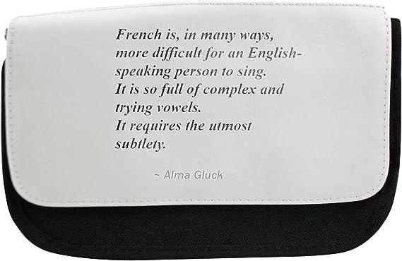 Estuche con francés es, en muchas formas, más difícil para una persona de habla inglesa a cantar. Es Tan Lleno De complejo y tratando de las Vocales. Se requiere la mayor Sutileza.: