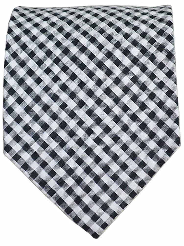 Black and White Gingham Cotton Tie by Paul Malone Red Line