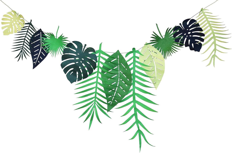 Jungle Hawaiian Tropical Bunting Banner Garland Beach Luau Party Decoration