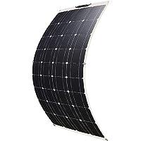 Betop-camp Panel Solar Fotovoltaico ETFE Monocristalino Semi Flexible de 100W Flex para RV, Barco, Tienda, Automóvil…