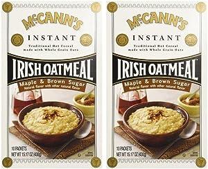 McCann's Irish Oatmeal Maple & Brown Sugar -- 10 Packets (Pack of 2)