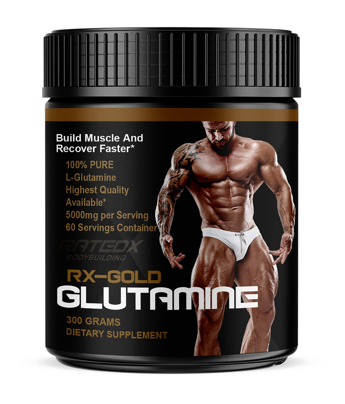 RATEDX BODYBUILDING L-GLUTAMINE Muscle Recovery Powder
