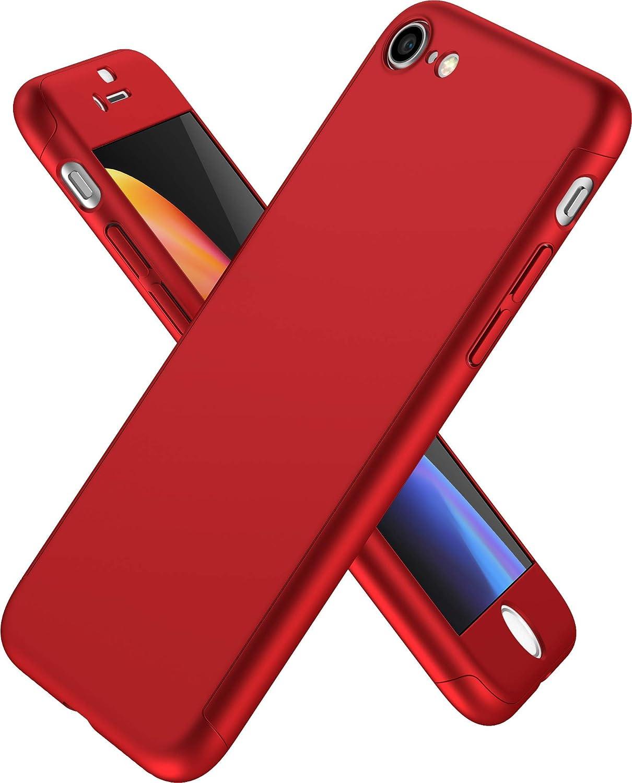Cover iPhone 7 360 Gradi e Vetro Temperato - Custodia Davanti e Dietro Integrale per iPhone 7 - Protezione Completa Fronte e Retro con Pellicola ...