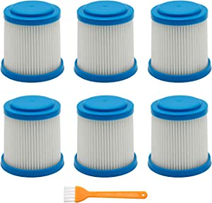 Lemige 6 Packs VPF20 Replacement Filters for Black and Decker Smartech Pet Lithium 2-in-1 Cordless Stick Vacuum