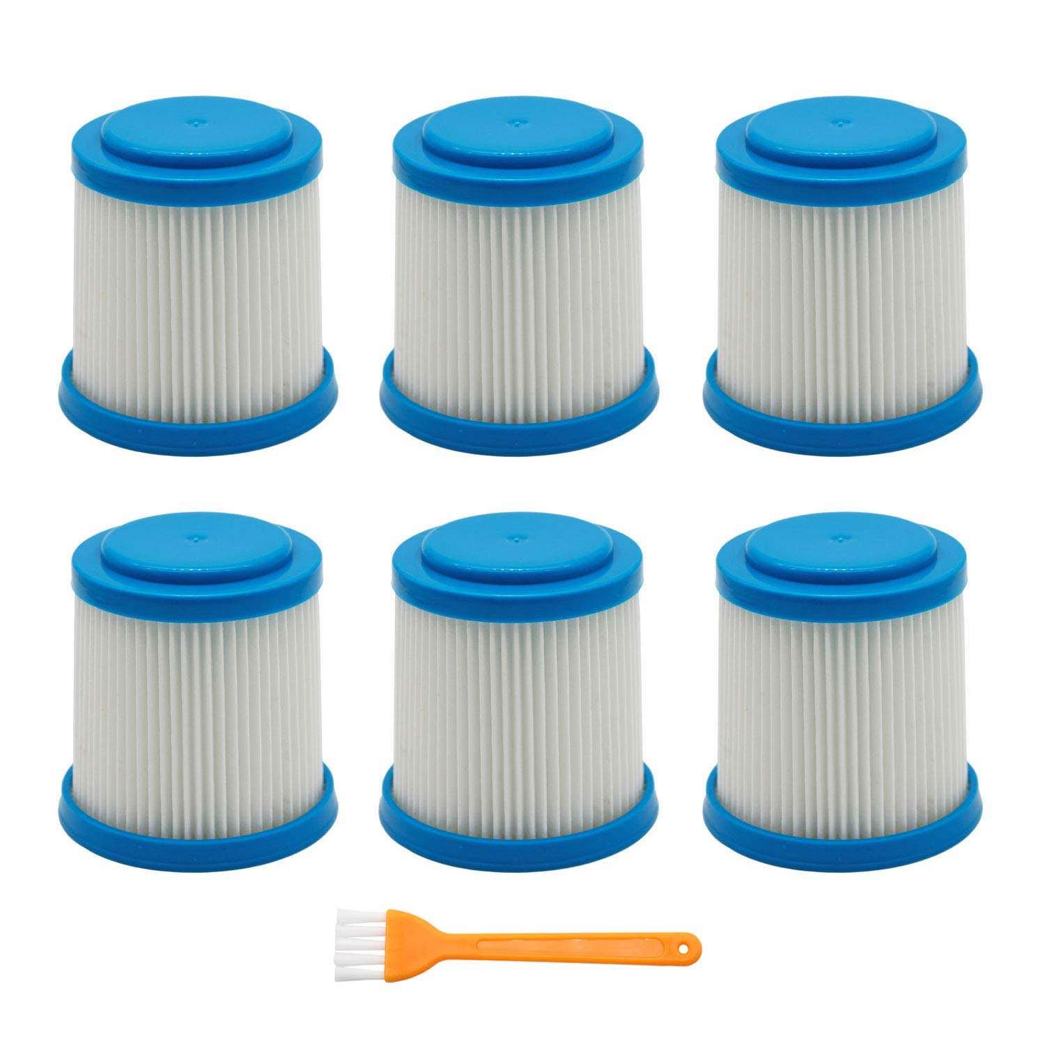 Lemige 6 Packs VPF20 Replacement Filters for Black and Decker Smartech Pet Lithium 2-in-1 Cordless Stick Vacuum by Lemige