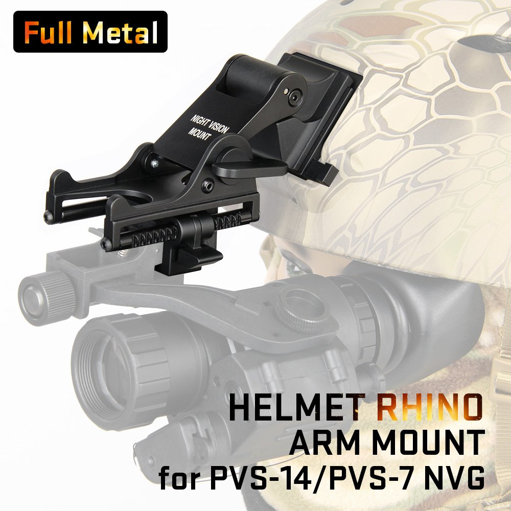 Canis Latrans Night Vision Goggles (NVG) Rhino Mount for PSV-7 PSV-14 Full Metal Tactical Helmet Mount(Tan) by CANIS LATRANS (Image #10)