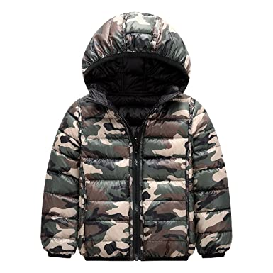 4f41109fa970 Amazon.com  Baby Girls Boys Winter Lightweight Down Coat Hoodies ...