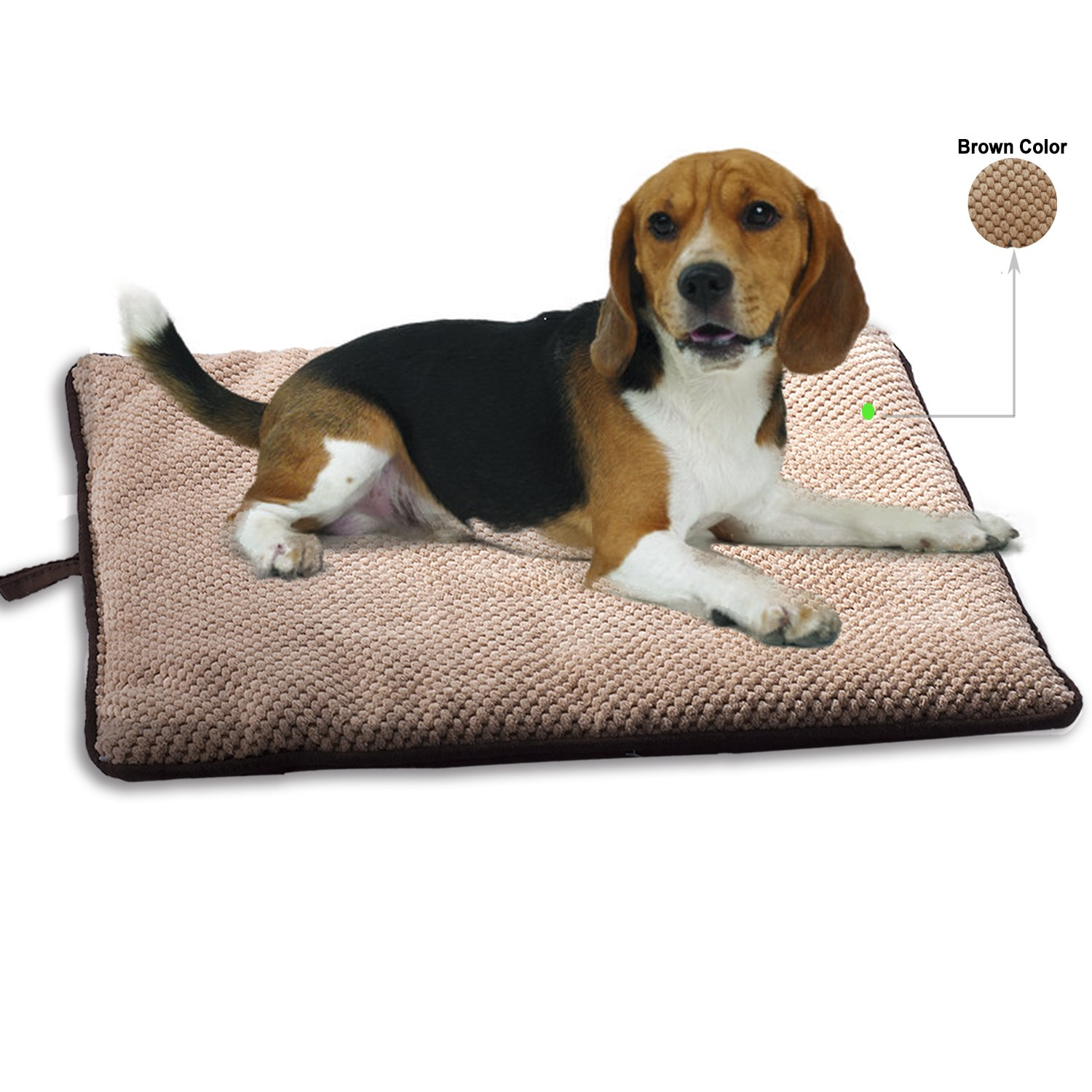 PAWISE Dog Bed Cat Bed Dog Mat Teflon Cushion Waterproof for Crate Outdoor Car Mat Machine Wash (Medium-New)