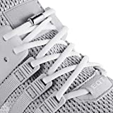 anan520 Elastic No Tie Shoe Laces For Adults,Kids,Elderly,System With Elastic Shoe Laces(2 Pairs), White, X-Large (Color: White, Tamaño: X-Large)