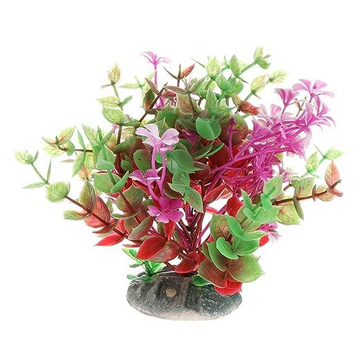 Runrain Plantas Acuáticas Plantas Vivid Lifelike Plástico Flor ...