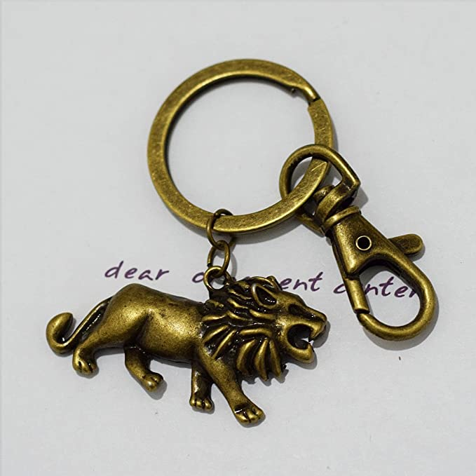 Amazon.com: Lion Keychain , Lion Charm Keychain ...
