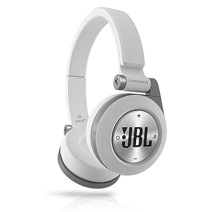 b3a032d2282 Amazon.com: JBL Bluetooth wireless on-ear headphones SYNCHROS E40BT white  E40BTWHT: Home Audio & Theater