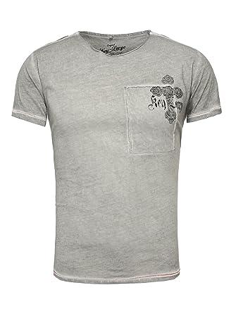 Key Largo Herren T-Shirt Legend Kreuz Vintage Backprint Ziernaht   Amazon.de  Bekleidung 40a155c584