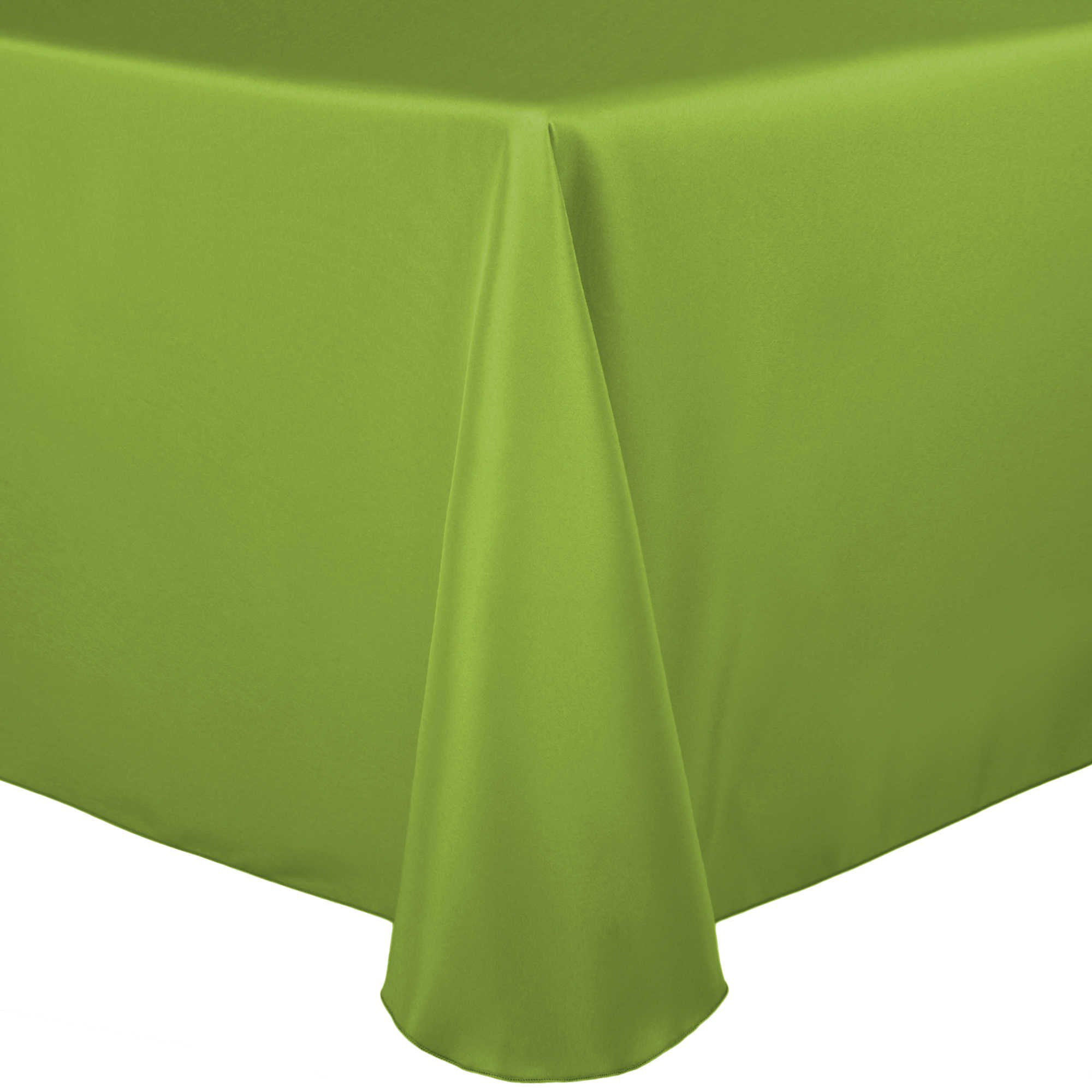 Ultimate Textile (40 Pack) 60 x 84-Inch Oval Polyester Linen Tablecloth - for Home Dining Tables, Lime Green