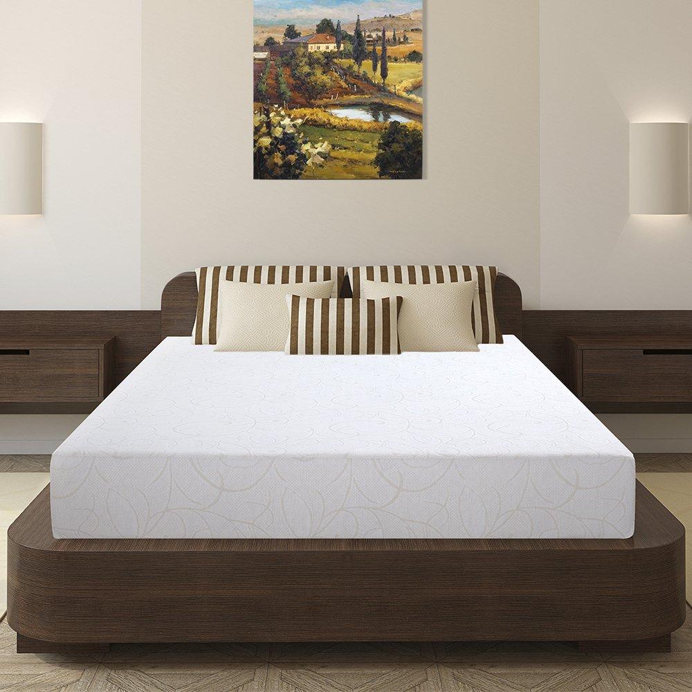 Olee Sleep 7 Inch I-Gel Deluxe Comfort Memory Foam Mattress Queen