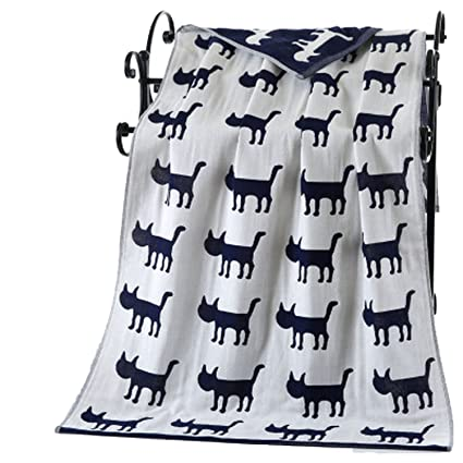 Collocation-Online Beach towel Toalla de baño con Estampado de Gatos 70140 cm de Gasa