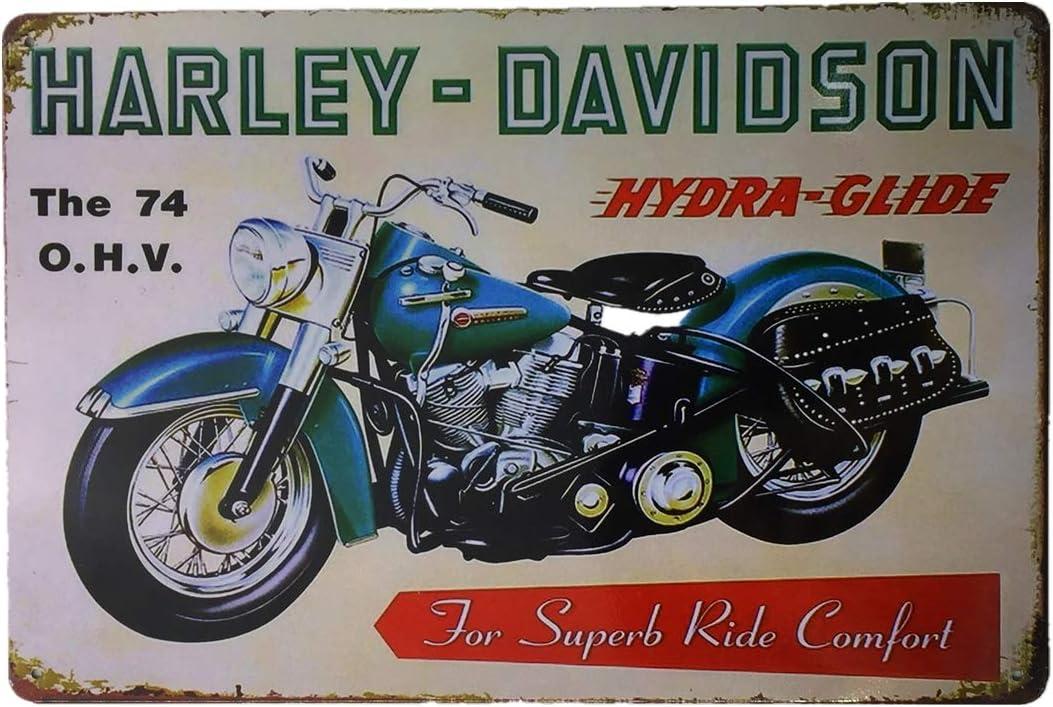 Harley Davidson Tin Sign Harley Mancave Sign Harley Metal Art Harley Tin Sign