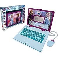 Lexibook Disney Frozen 2-educatieve en tweetalige laptop Duits/Engels-meisjes speelgoed met 124 activiteiten om te leren…