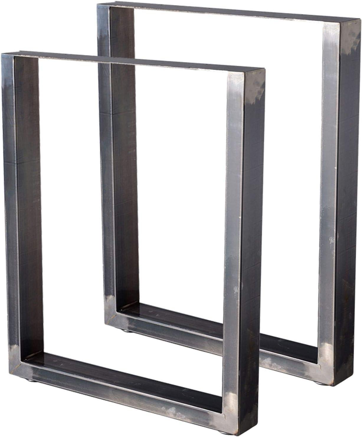 B 80 x H Zelsius Tischbeine Tischkufen Tischgestell 2 St/ück Metall Kufen Rohstahl oder Grau I verschiedene Gr/ö/ßen I Industrie Rohstahl transparent lackiert 72 cm