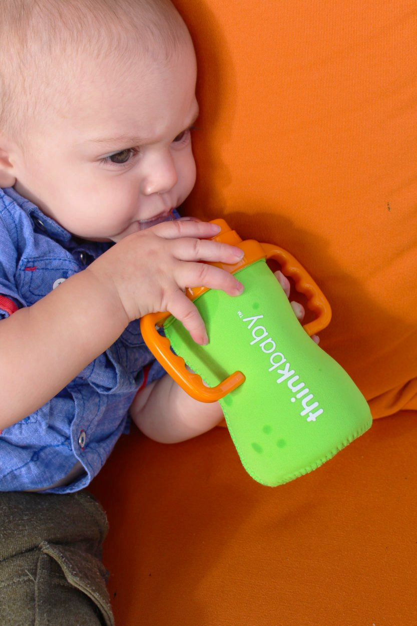 Green Thinksport sleeve/_green Feeding Bottle