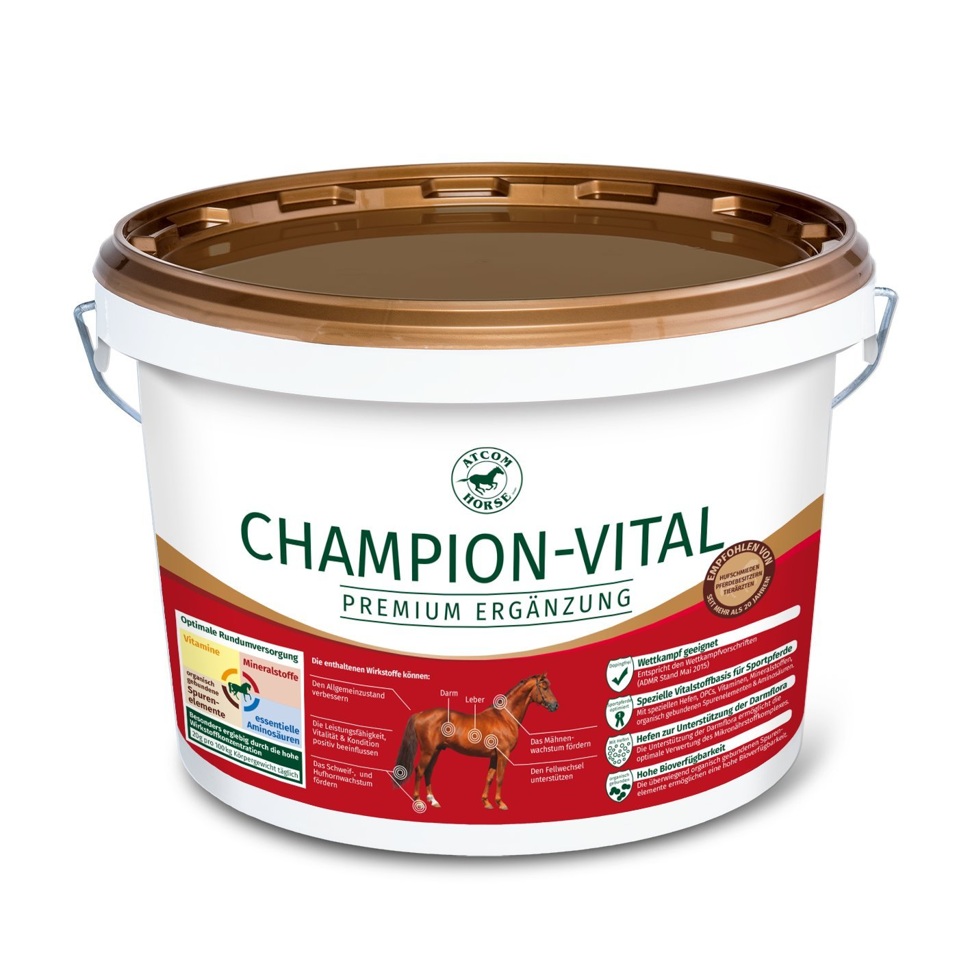 Atcom Champion-Vital Supplementary food for Horses 25 kg