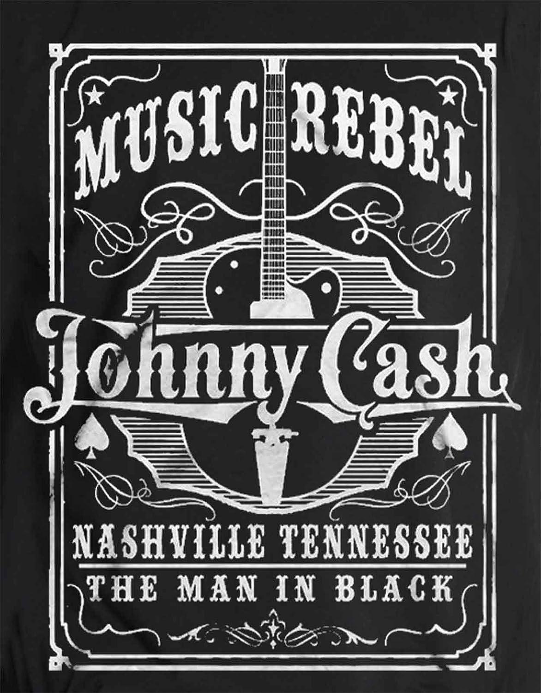 Johnny Cash Guitar Man in Black Color T-Shirt