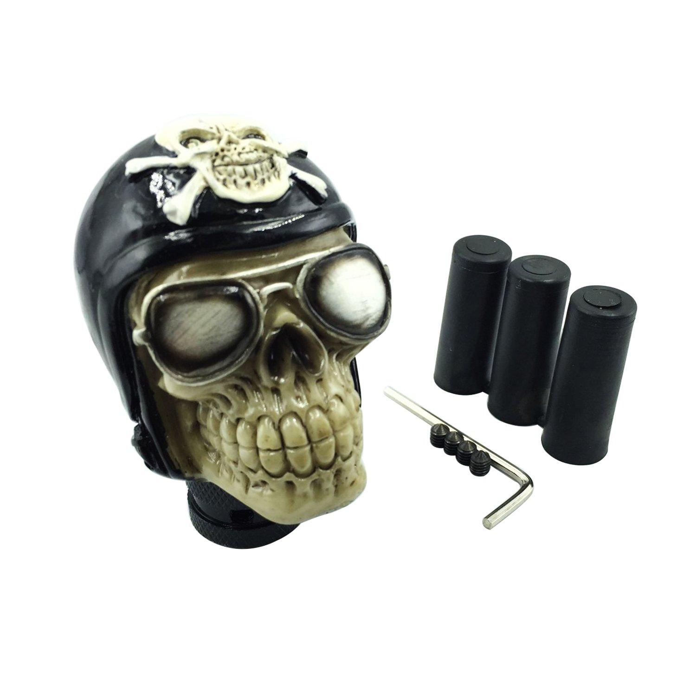 Bashineng Gear Shift Knob Skull Aluminum Alloy Pirate Car Accessories Manual Automatic Shifter Head