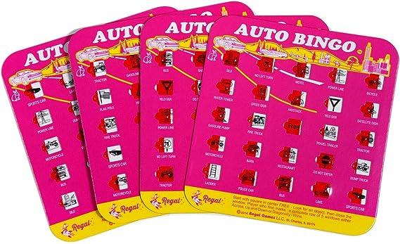 Regal Games Travel Bingo 4 Packs