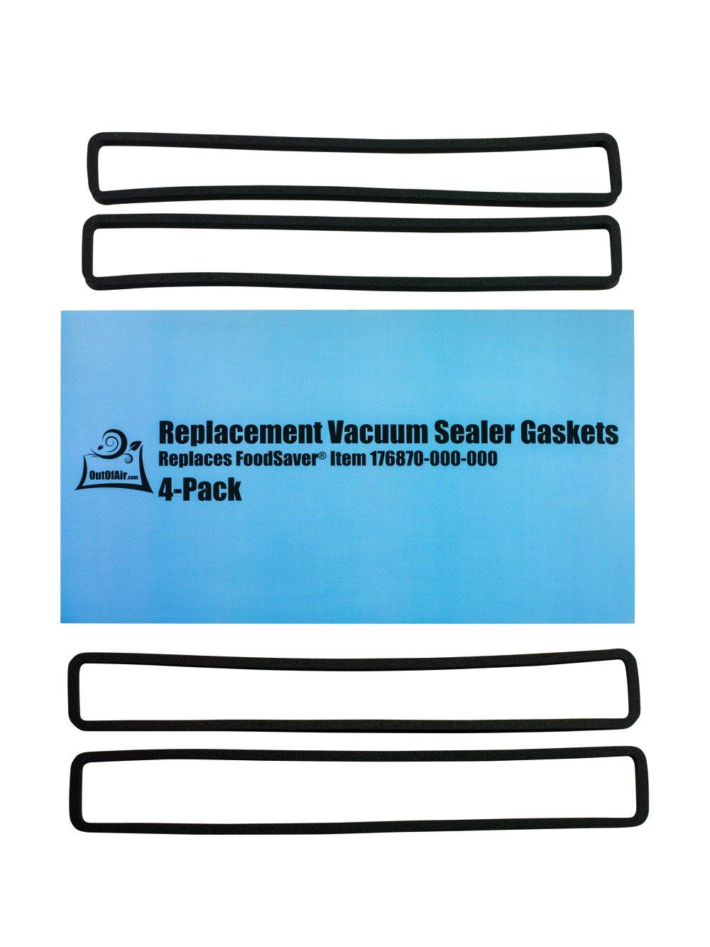 4 Pack Foodsaver Gasket Replacement Vacuum Sealer Upper Gasket Assembly Fits V2200 V2400 V2800 V3000 V3200 V3400 V3800 Models Corresponds To Food Saver T910 00075 By Impresa Products Buy Online In