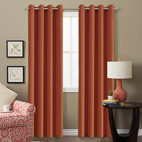 Beau H.Versailtex Ultra Soft Microfiber Blackout Curtains For Living Room,Thermal  Insulated Grommet Window