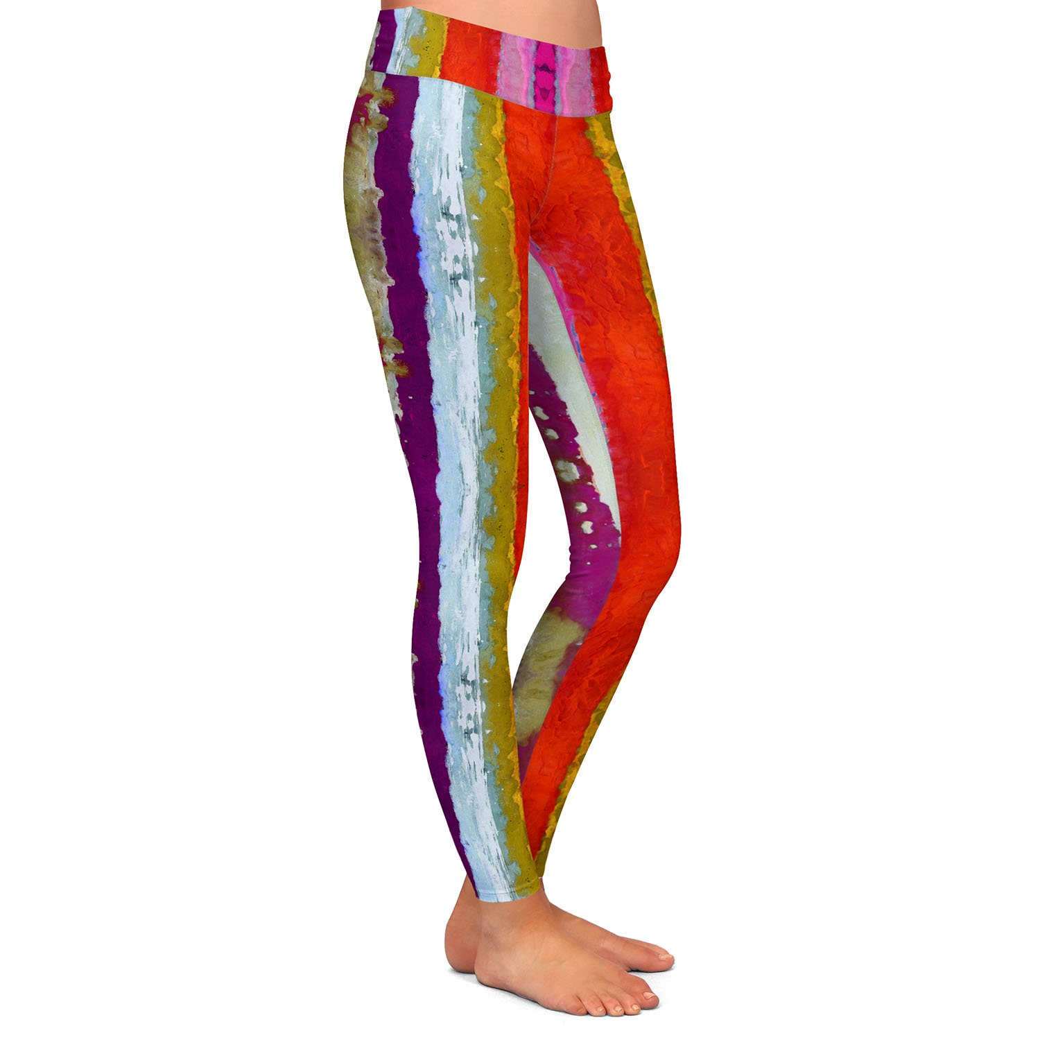 Athletic Yoga Leggings from DiaNoche Designs by Ruth Palmer The Sky is Falling 2