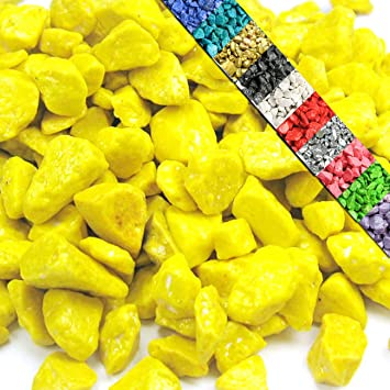 dekokies zierkies streudeko dekosteine nuggets garten kies 15kg gelb - Kies Garten Gelb