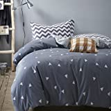 Vougemarket 3 Piece Duvet Cover Set (Queen,King) Duvet Cover with 2 Pillow Shams - Hotel Quality 100% Cotton - Luxurious, Comfortable, Breathable, Soft and Extremely Durable (King, Style 1)