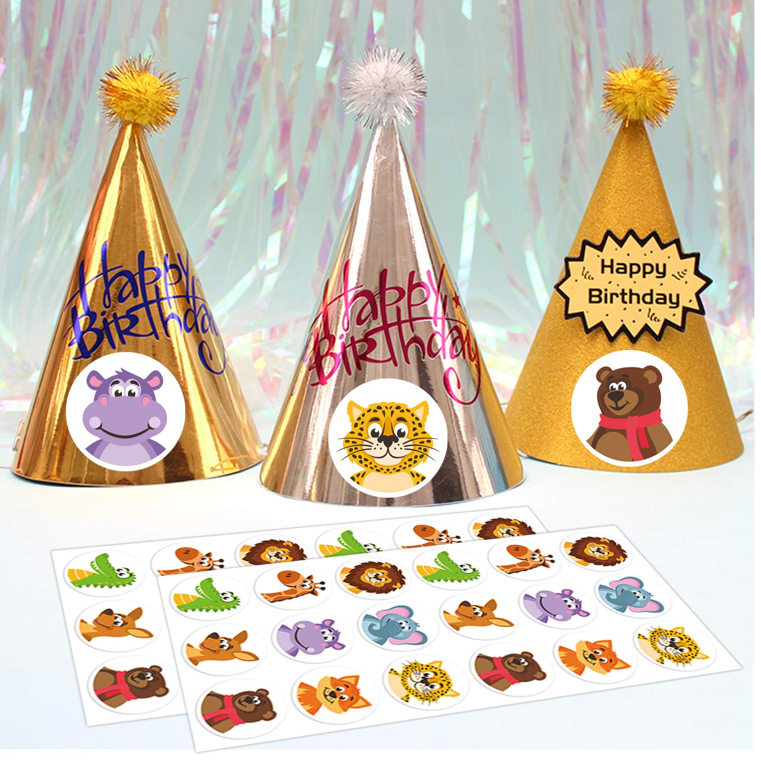 Birthday Party Ssupplies Stickers for Kids Mr.Mug 1.4 Inches 500 Woodland Animal Stickers Animal Sticker Party Favors Adhesive Stickers for Toddlers