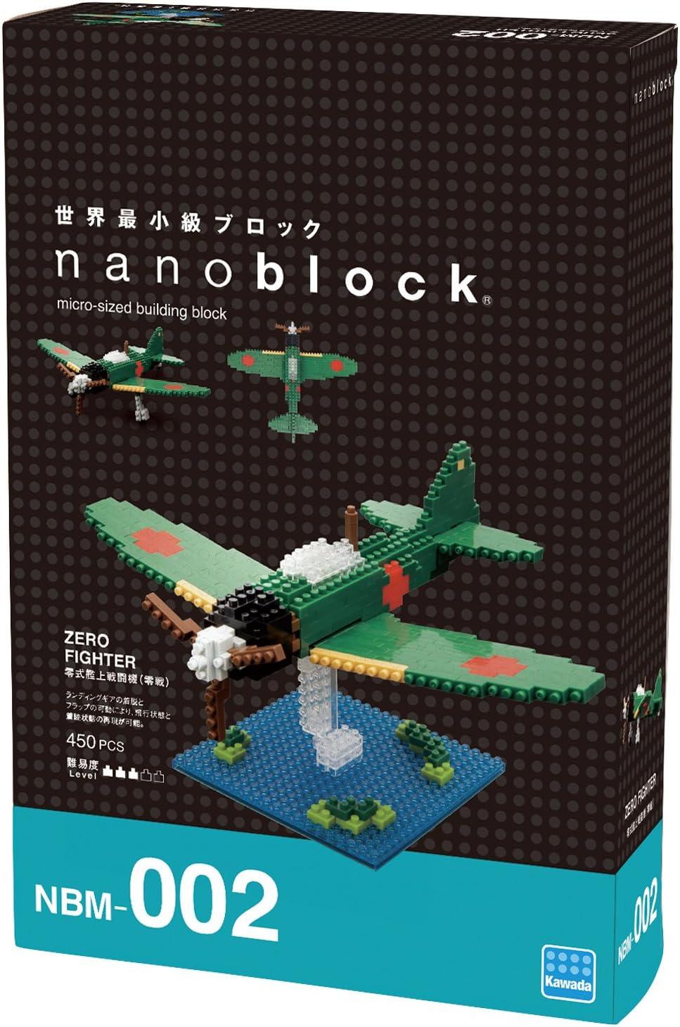 Kawada Nanoblock NBM-002 Zero Fighter 450pcs