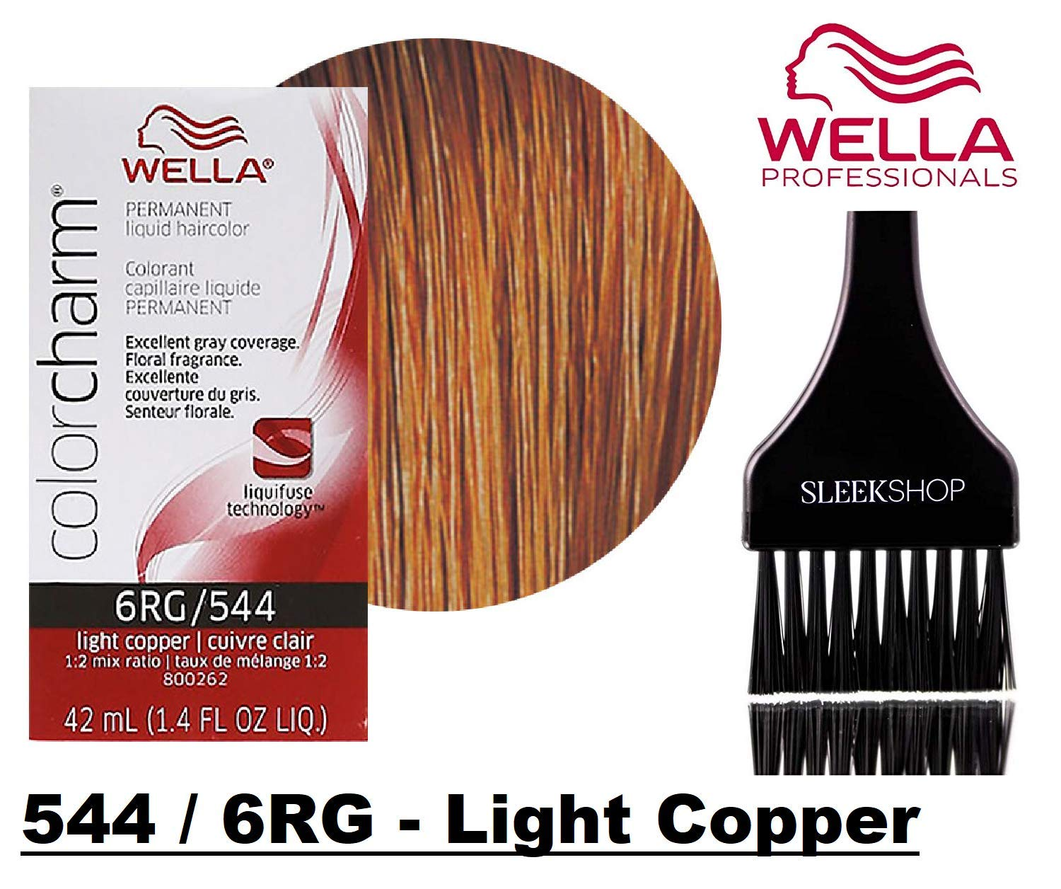 Wella COLOR CHARM PERMANENT Liquid Haircolor (w/Sleek Tint Brush) Excellent  Gray Coverage,...