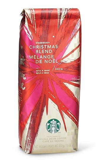 Amazon.com : 2016 Starbucks Christmas Blend Whole Bean Coffee - 1 ...