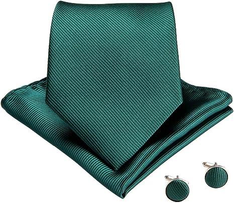 KYDCB Corbatas sólidas Populares Corbatas Verdes para Hombres ...