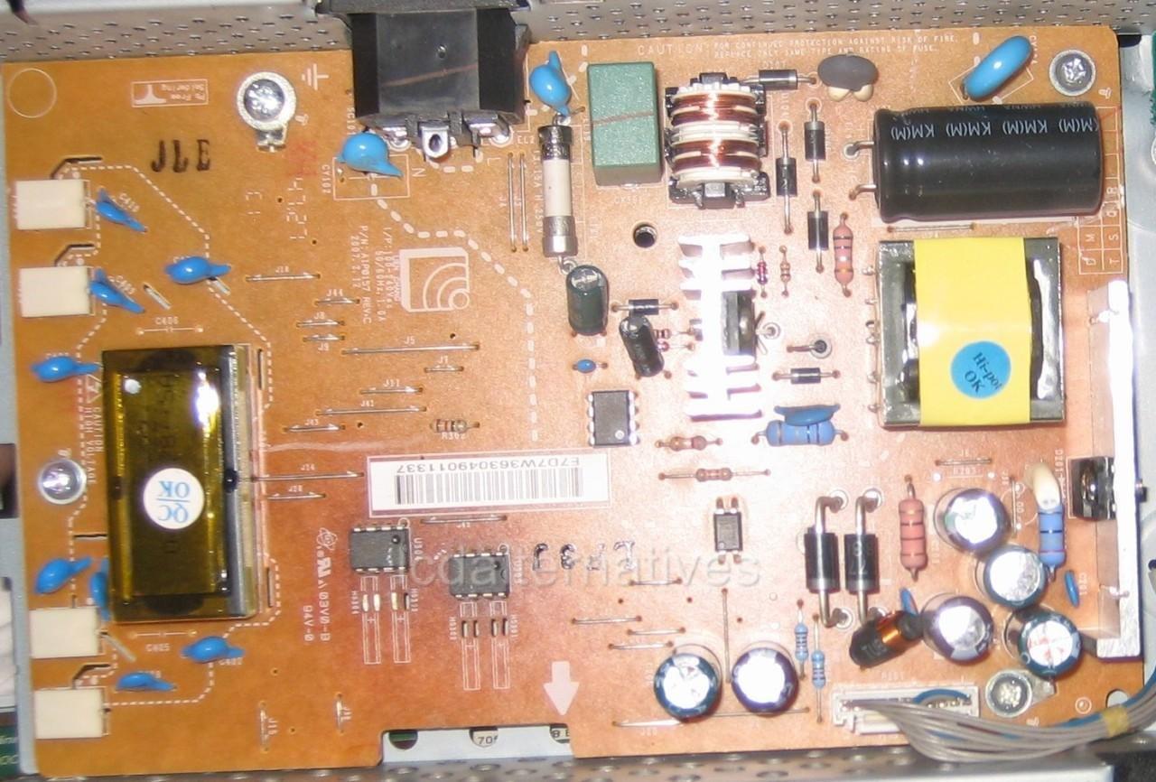 Repair Kit, LG L196WTQ-BF, LCD Monitor, Capacitors, Not the Entire Board