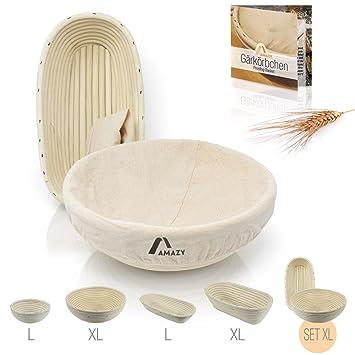 Amazy Banneton para pan (Set de 2) – La cesta ideal para masa y