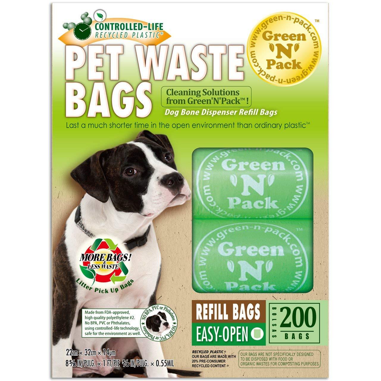 Green N Pack Eco Friendly Bags - perro Poo bolsas mochila 75 - 200 bolsas: Amazon.es: Salud y cuidado personal
