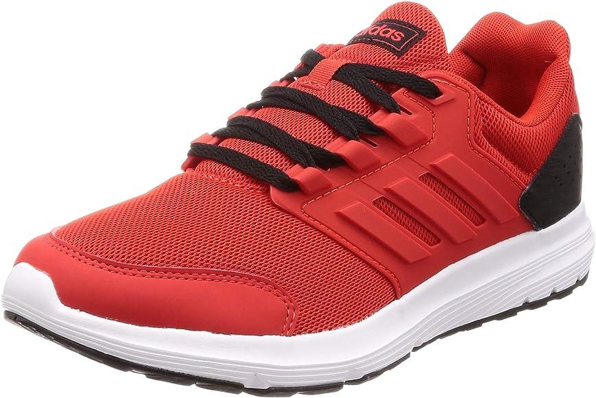 adidas Galaxy 4, Scarpe da Running Uomo, Rosso Active Red/Core Black, 44  2/3 EU