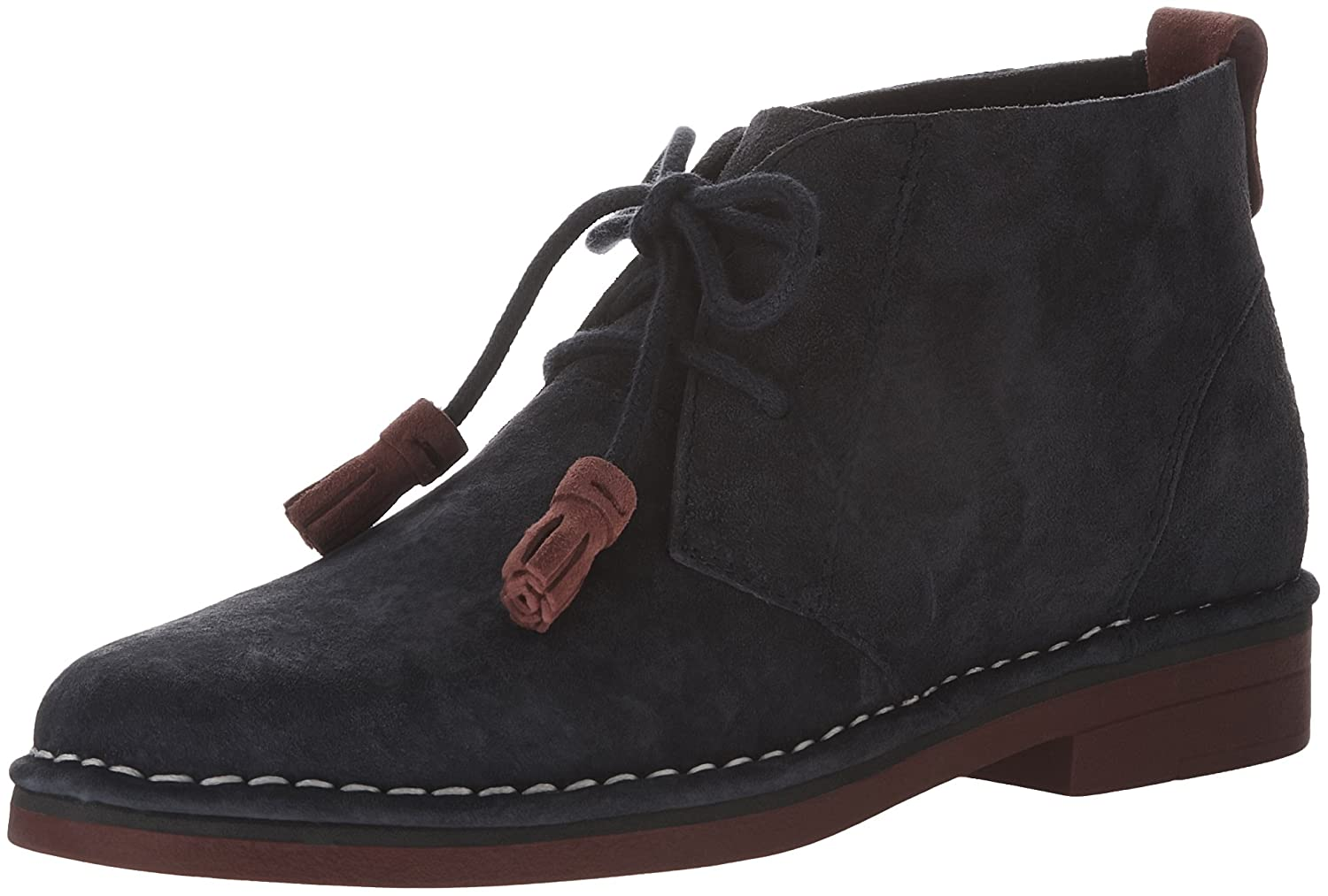 Hush Puppies Women's Cyra Catelyn Boot B019X7SUL6 5.5 B(M) US|Navy Suede/Red