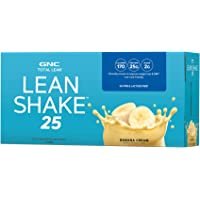 GNC Total Lean Lean Shake 25 to Go Bottles - Banana Cream, 12 Pack, Low-Carb Protein Shake to Improve Weight Loss