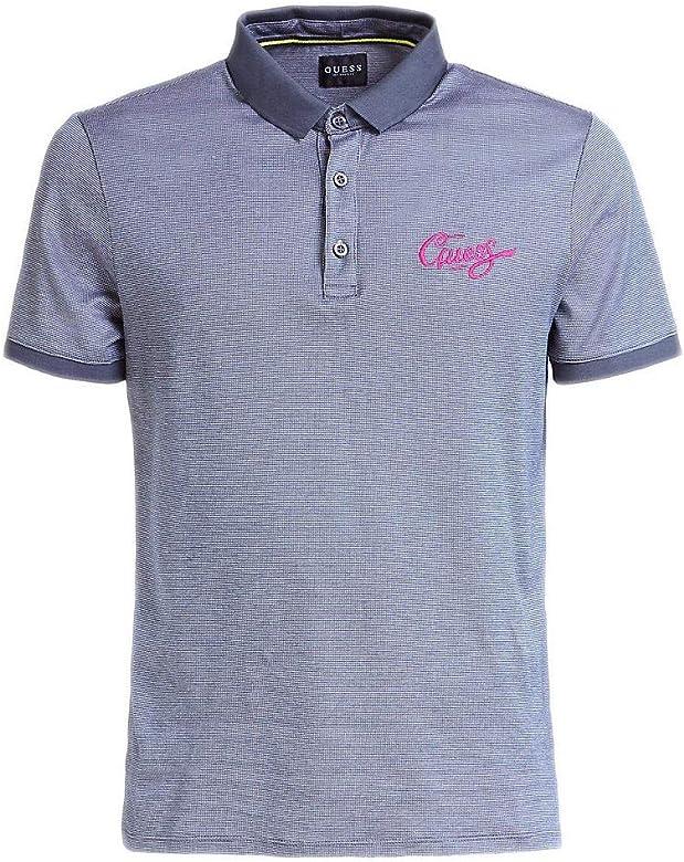 GUESS Camiseta Ferdie SS Polo Bullet Gris Hombre L Gris: Amazon.es ...