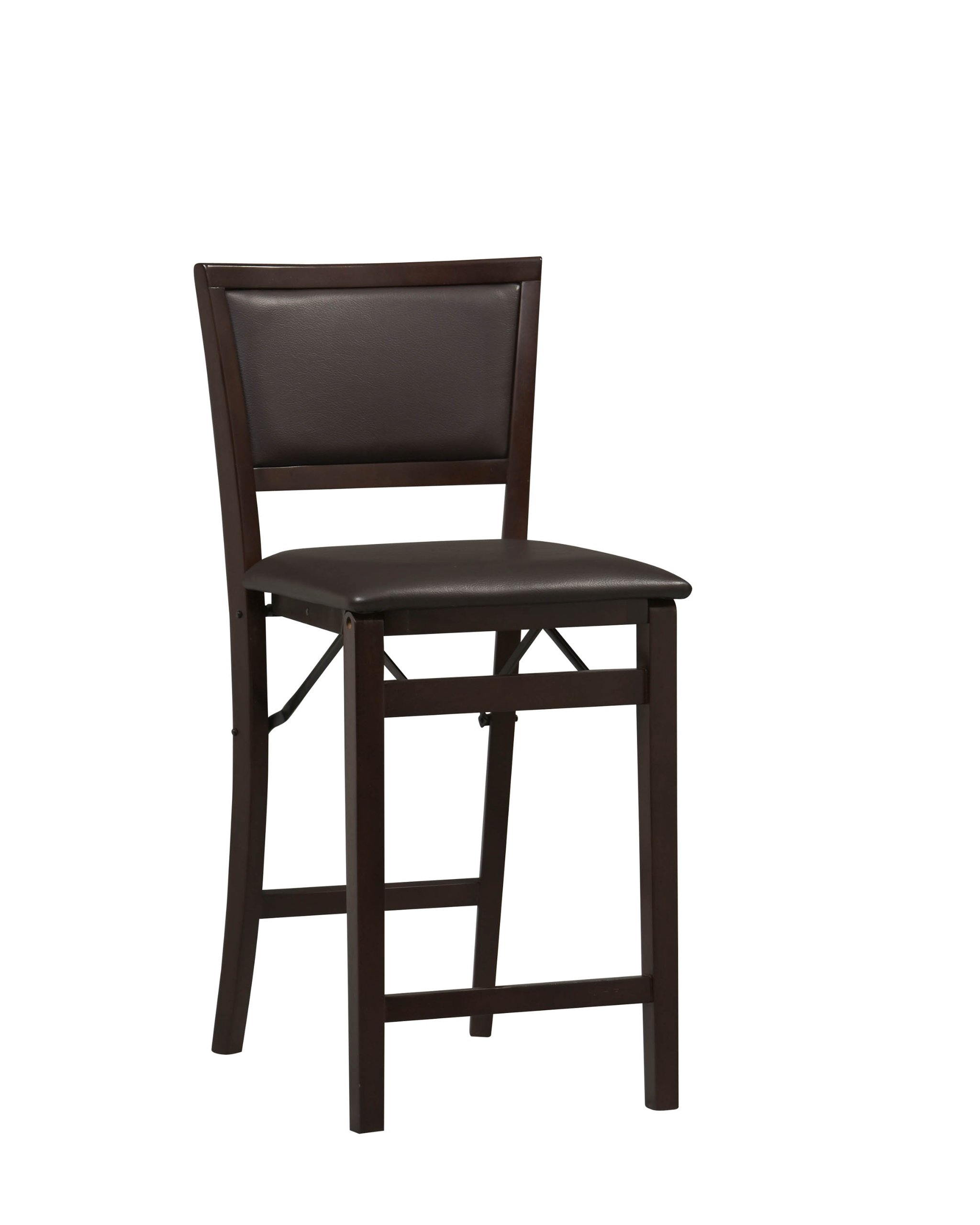 Linon Home Decor Keira Pad Back Folding Counter Stool, 24-Inch by Linon Home Dcor