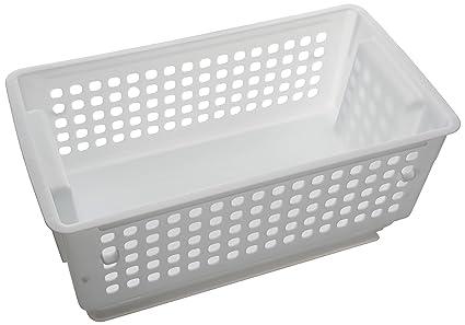 Slide'N Stack Storage Basket-White Slide/stack Basket yAggl