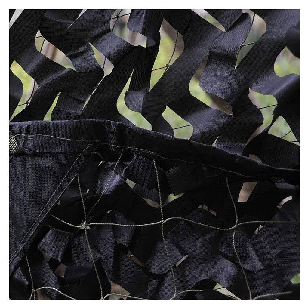 Rete Mimetica Nero per da Caccia Militare Rotolo Woodland 2x3m 3x4m Nero 8m 10m Camouflage Camo Net Pigeon Ombra Rete Sun Tenda Rete per Ripresa Giardino Privacy Tendalini per Camper
