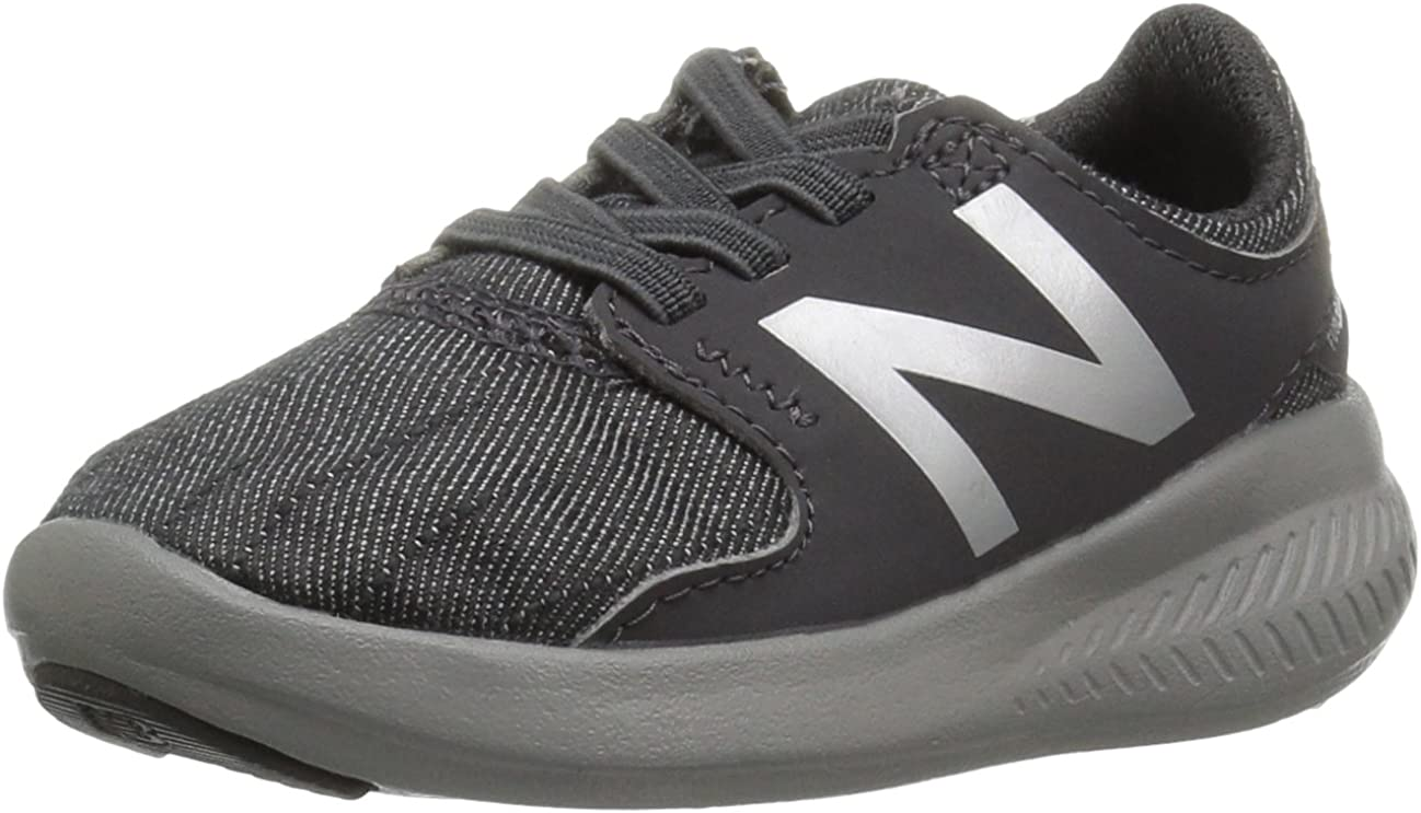 New Balance Girls Coast V3 FuelCore Running Shoe 12 M US Little Kid Peony glo//Black