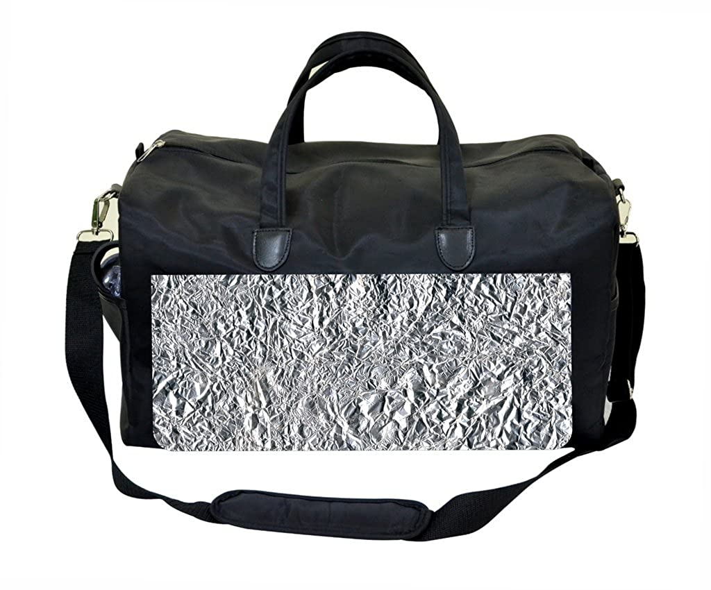 Crinkled Silver Aluminum Foil-Look Therapist Bag